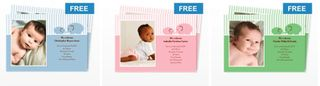 Free birth announcements