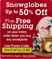 Disney snowglobes free shipping