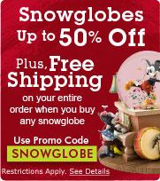 Disney snowglobes free shipping
