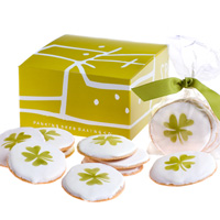 Dancing deer shamrock cookies