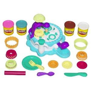 Playdough cake making station