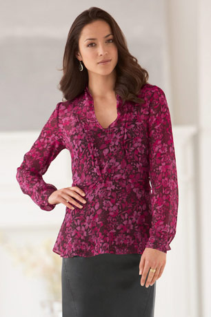 Chadwicks gathered front blouse
