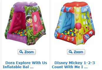 Dora Explore With Us Inflatable Ball Pit with 20 Balls or Disney Mickey 1-2-3 Count With Me Inflatable Ball Pit with 20 Balls  sc 1 st  Bargain Hunting Moms & Disney Princess Dora or Mickey Mouse Ball Pits with 20 Balls $24 ...