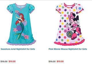 Disney store nightgowns