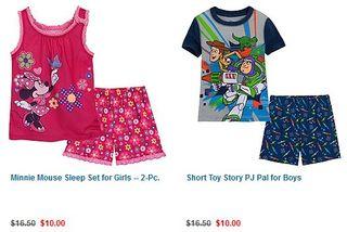 Disney pj pals shorts