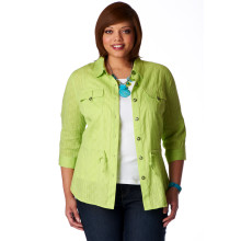 Cj banks textured shirt jacket