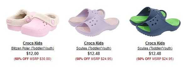 Crocs at 6pm