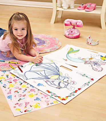 Giant Coloring Books with Stickers $4.95 - Thomas, Dora, Disney ...