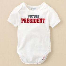 Childrens place president onesie