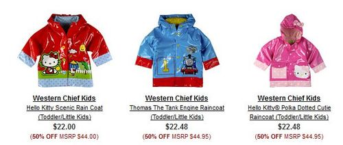 6pm kids rain coats