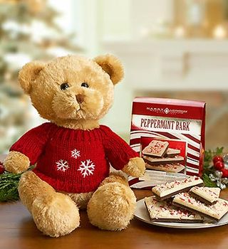 Bear with peppermint bark