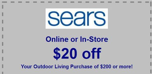Sears outdoor living coupon