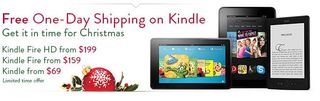 Kindle 1 day shipping