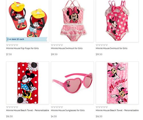 Disney swim shop