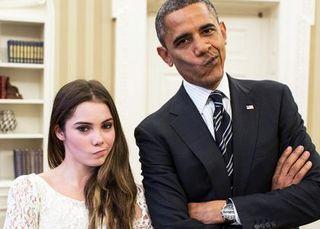 Obama gymnasts