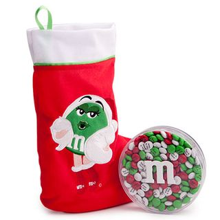 M&Ms holiday stocking