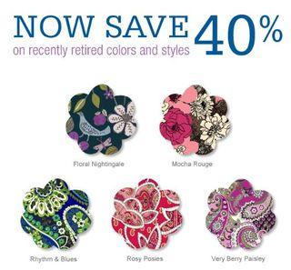 Vera bradley 40% off sale