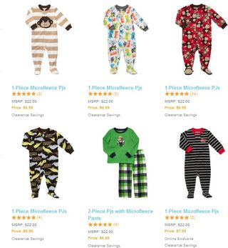 Carter's boys pajamas