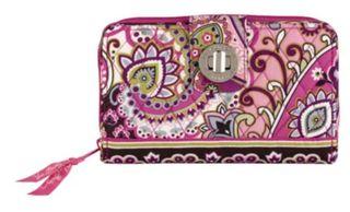 Vera bradley turn lock wallet