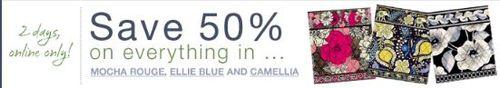 Vera bradley 50% off sale