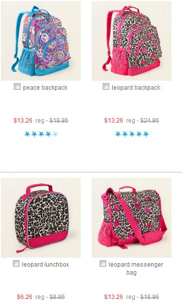 Childrens place back packs