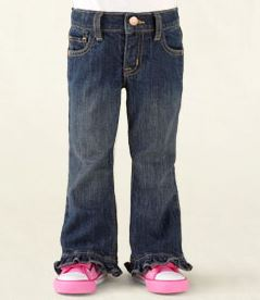 Children's place ruffle flare jeans