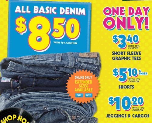 Children's place free shipping jeans deals