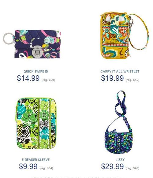 Vera bradley e-reader wristlet we heart wednesday