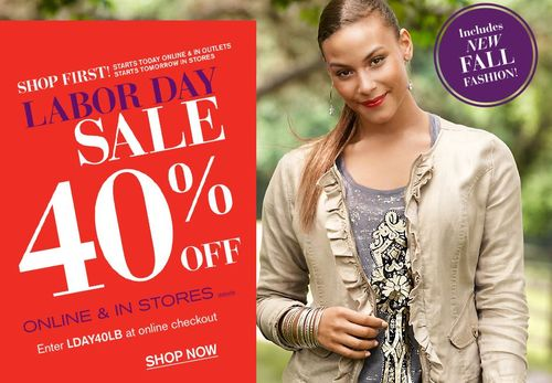 Lane bryant labor day sale