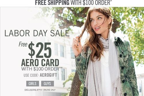 Aeropostale labor day