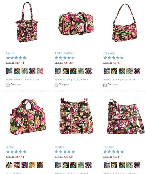 Vera bradley english rose sale