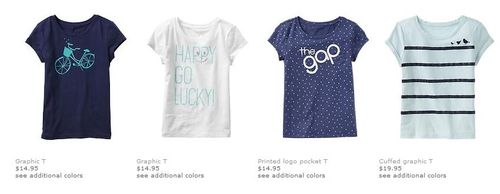 Gap graphic tees
