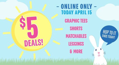 Children's place $5 deals