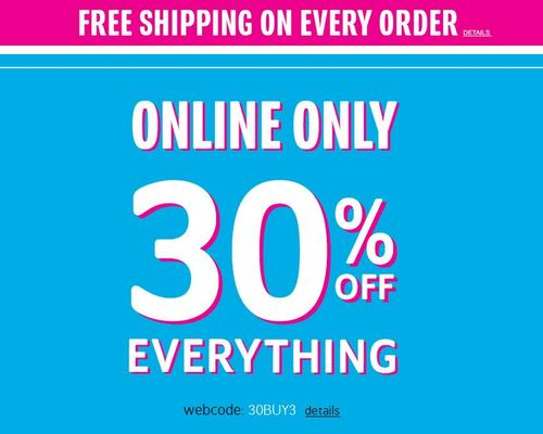 Children's place 30% off free shipping