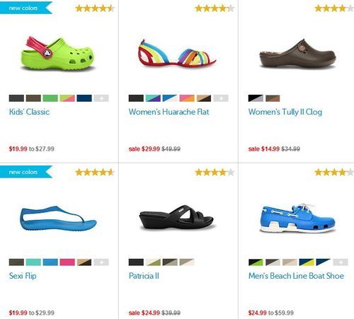 Crocs free shipping august
