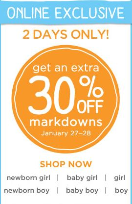 Gymboree 30% off