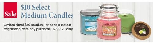 Yankee medium jar candles