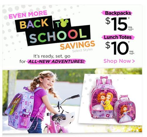 Disney back to school backpacks lunch totes
