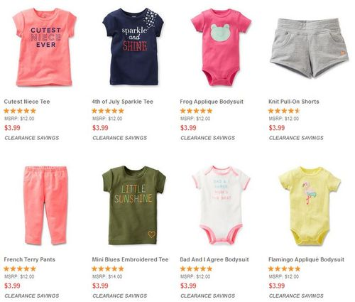 Carter's clearance free shipping