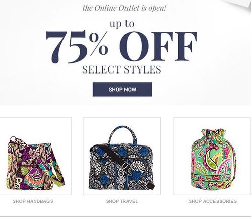 Vera bradley outlet sale labor day