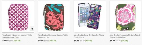 Vera bradley tablet sleeves