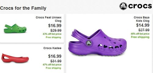 Crocs for the family
