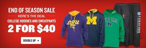 College fleece 2 for $40
