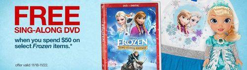 Target frozen free gift