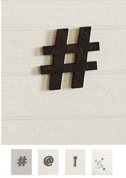 Hashtag magnet