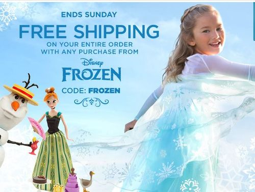 Disney frozen free shipping