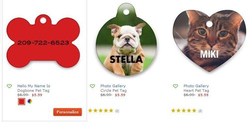 Personalized pet tag shutterfly