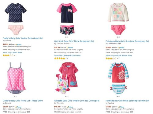 Swimsuits on sale at amazon carter's