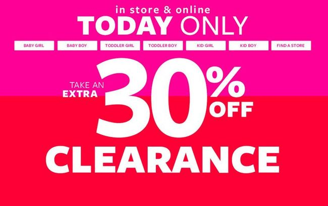 Carter's Flash Sale - 30% off Clearance