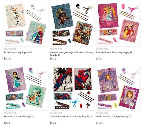 Disney store stationery sets